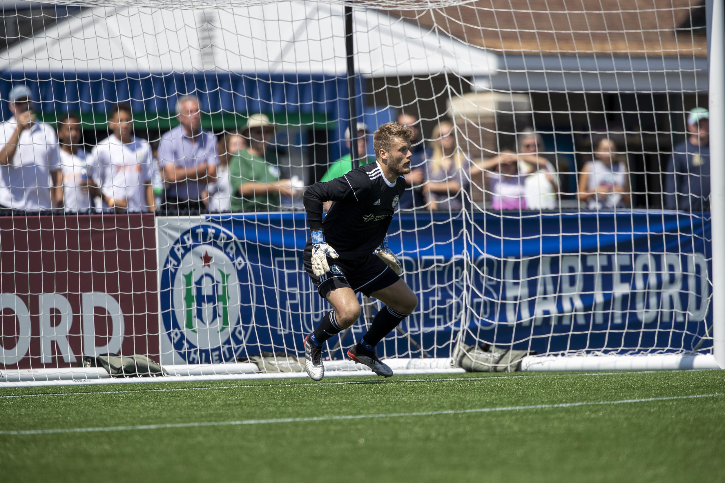New Orange County SC goalie Frederik Due in action for Hartford Athletic.  |   Photo courtesy of Orange County SC