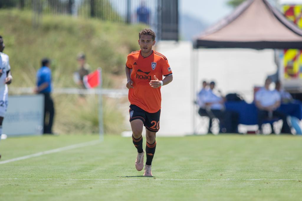 Orange County SC's Christian Duke. I  Photo courtesy of Orange County SC/Liza Rosales