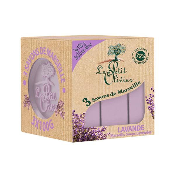 3 Savons de Marseille Lavender