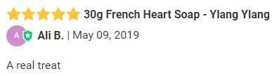 30g French Heart Soap - Ylang Ylang review.JPG