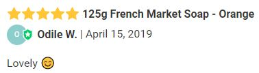 125g French Market Soap - Orange review.JPG