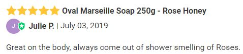 Oval Marseille Soap 250g - Rose Honey review.JPG