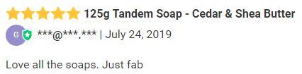125g Tandem Soap - Cedar & Shea Butter review.JPG