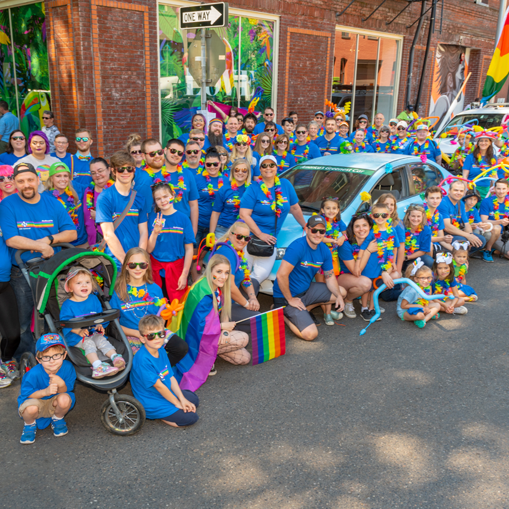 NW Natural employees turn out for the annual Portland Pride Parade in the Old Town/Chinatown neighborhood.