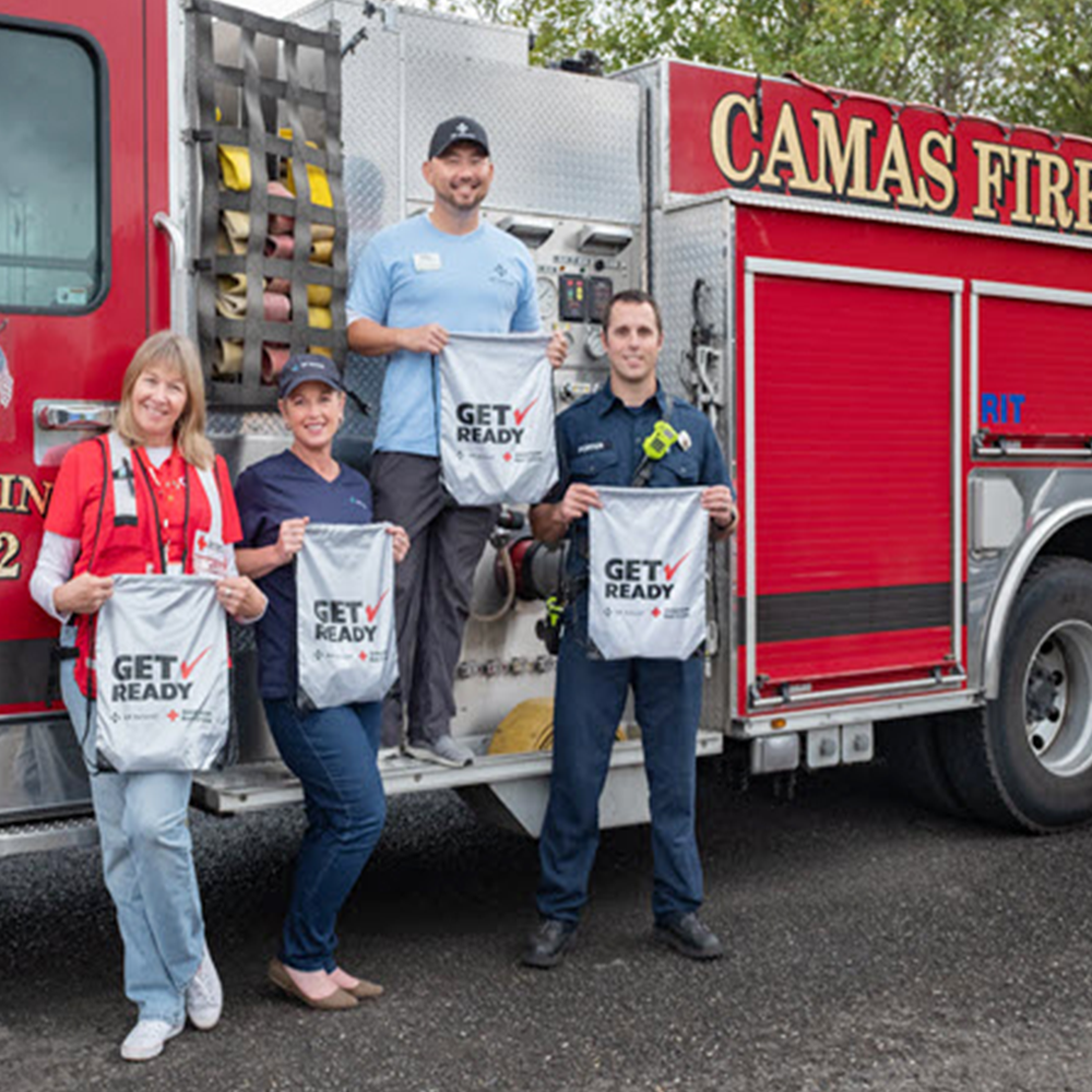 """In 2018 NW Natural once again teamed up with the Red Cross and emergency responders to help the public """"Get Ready"""" for natural disasters and other emergencies."""