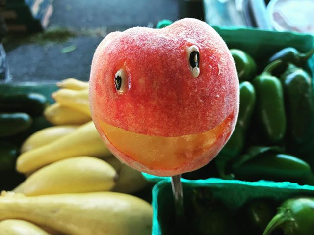 Feeling just PEACHY this morning! #freshfoodfriends #local #farmersmarket