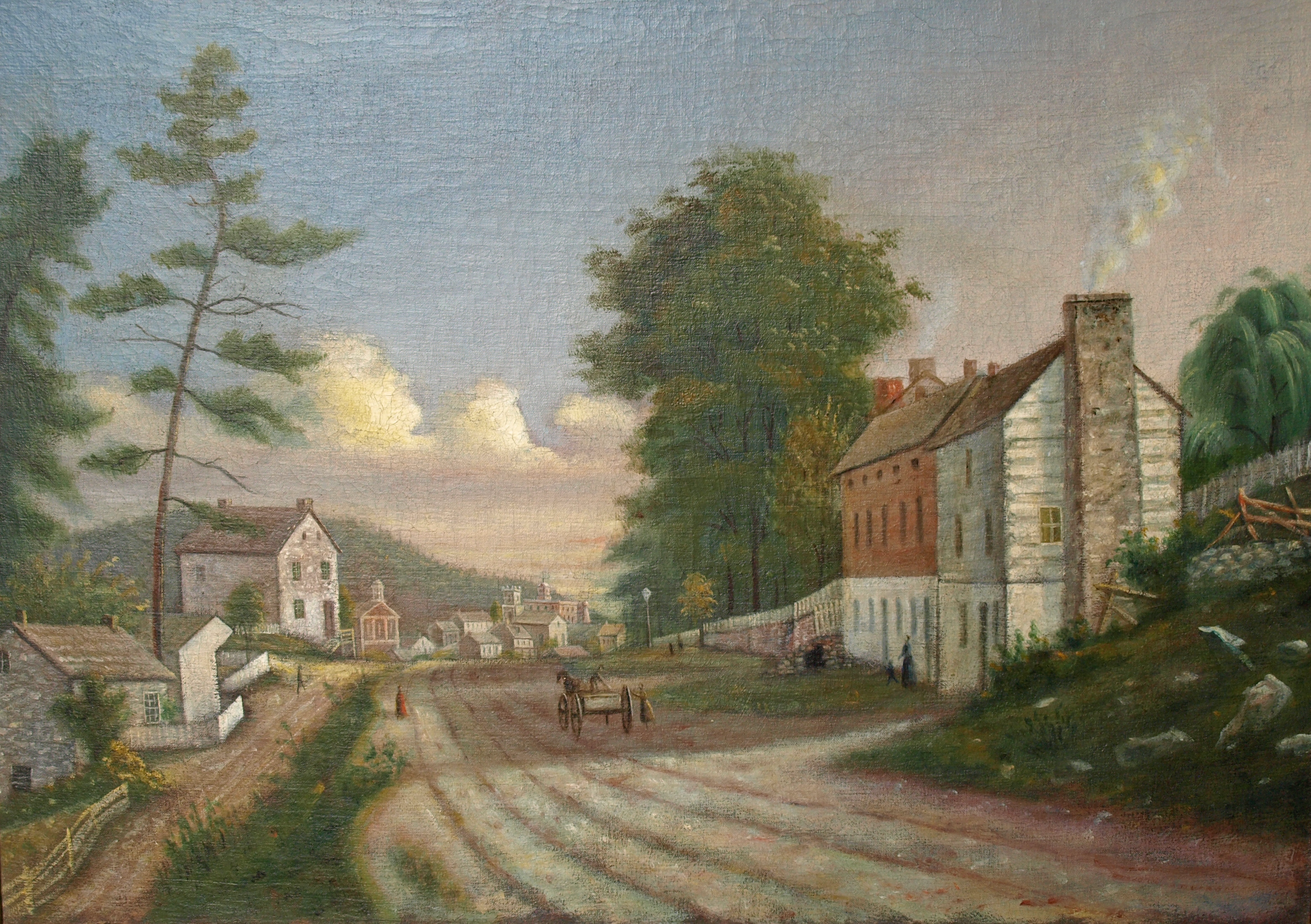 """""""Pine Street, Bellefonte."""" Used by permission of Centre County Library and Historical Museum , Bellefonte, PA"""