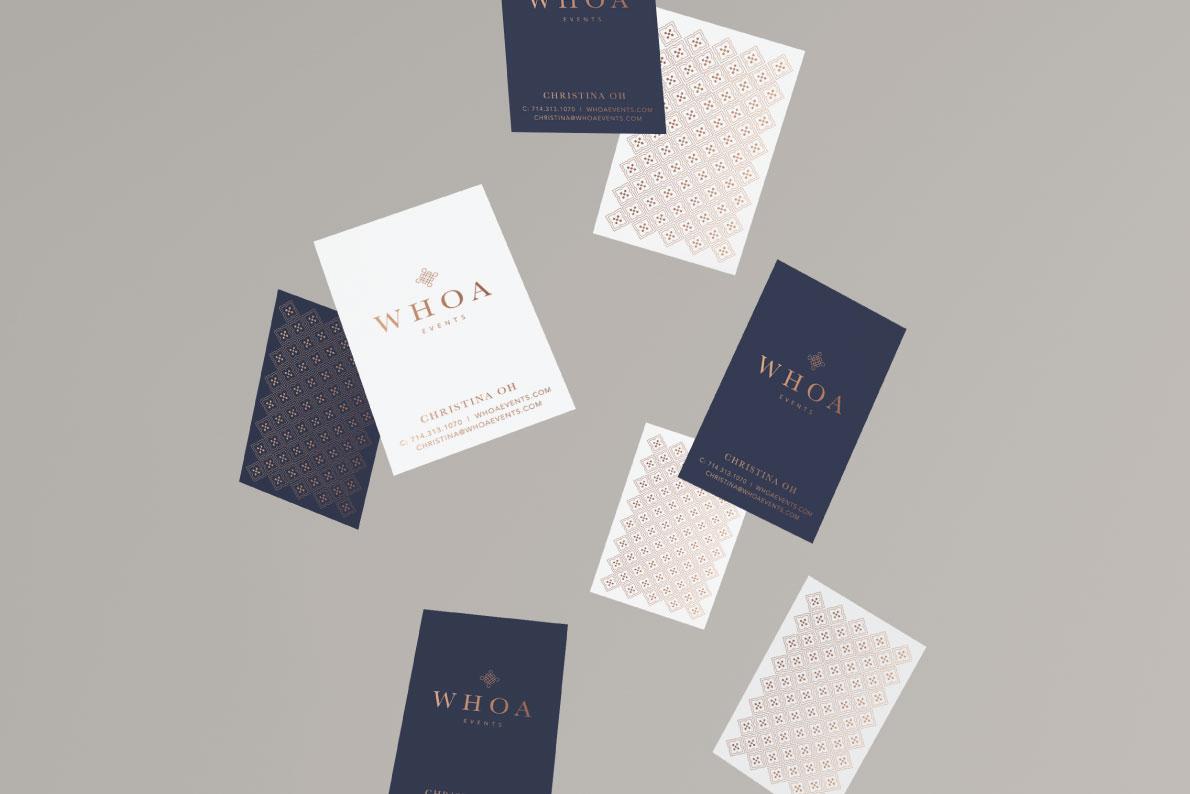 Whoa Events Brand Design by Studio Jazeena