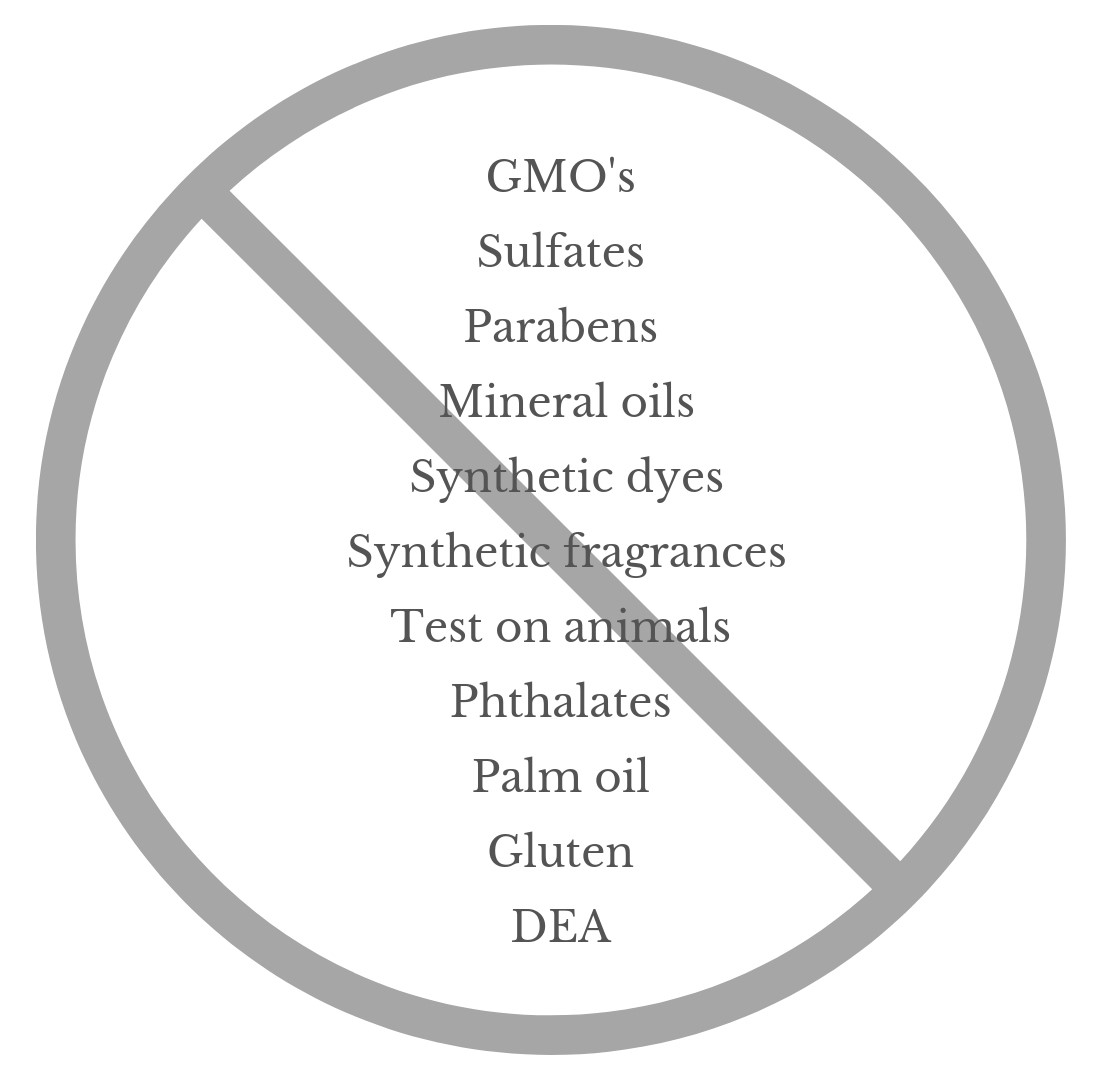 Our Promise To You… - We won't use these ingredients in our products. Ever.