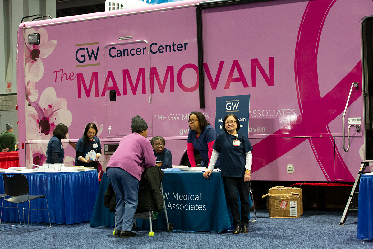 About The Mammovan - The GW Medical Faculty Associates Mobile Mammography Program makes early detection for breast cancer accessible to underserved women across the metropolitan Washington, D.C. region. The Mammovan reaches women where they live and work and offers screenings without regard to women's ability to pay.