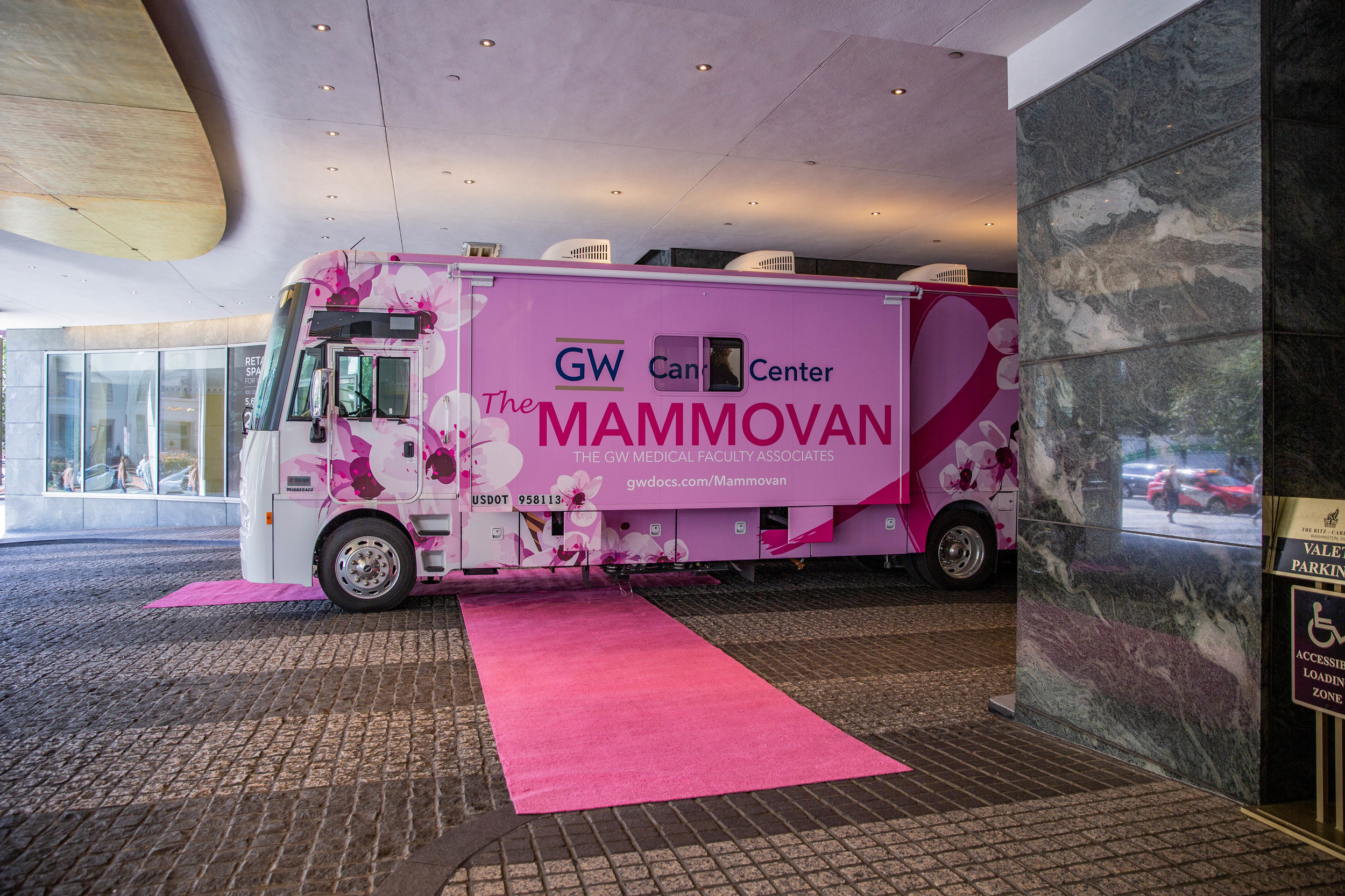 Past Events - The GW Blush Lunch is the signature benefit supporting the GW Comprehensive Breast Center program of the GW MFA and its mobile mammography unit better known as The Mammovan. The event has raised more than $1 million to deliver breast cancer screening to women around metropolitan Washington regardless of their ability to pay.