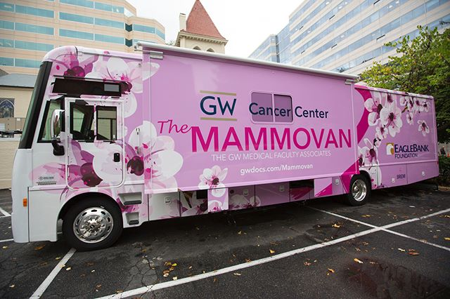 No more waiting! Introducing our big, new, pink MAMMOVAN! 💕 The new van has the latest 3D technology, bringing ALL women in the DC area, life-saving mammograms! #earlydetection #breastcancerawareness