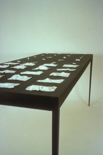 Shellheap (1996). 4' x 4' x 10'; porcelain, wood; carved, slip-dipped, fabricated