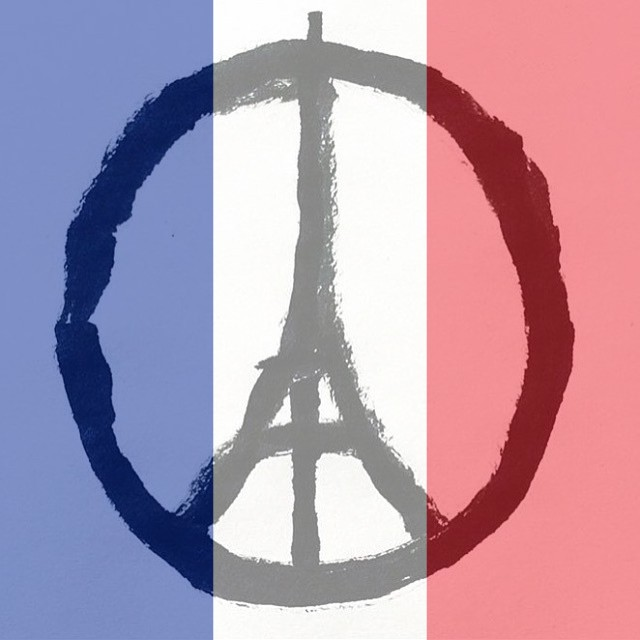The Eiffel Tower 'peace' symbol and the colours of the Tricolour have proliferated through social media as people share their solidarity in the wake of the Paris attacks.