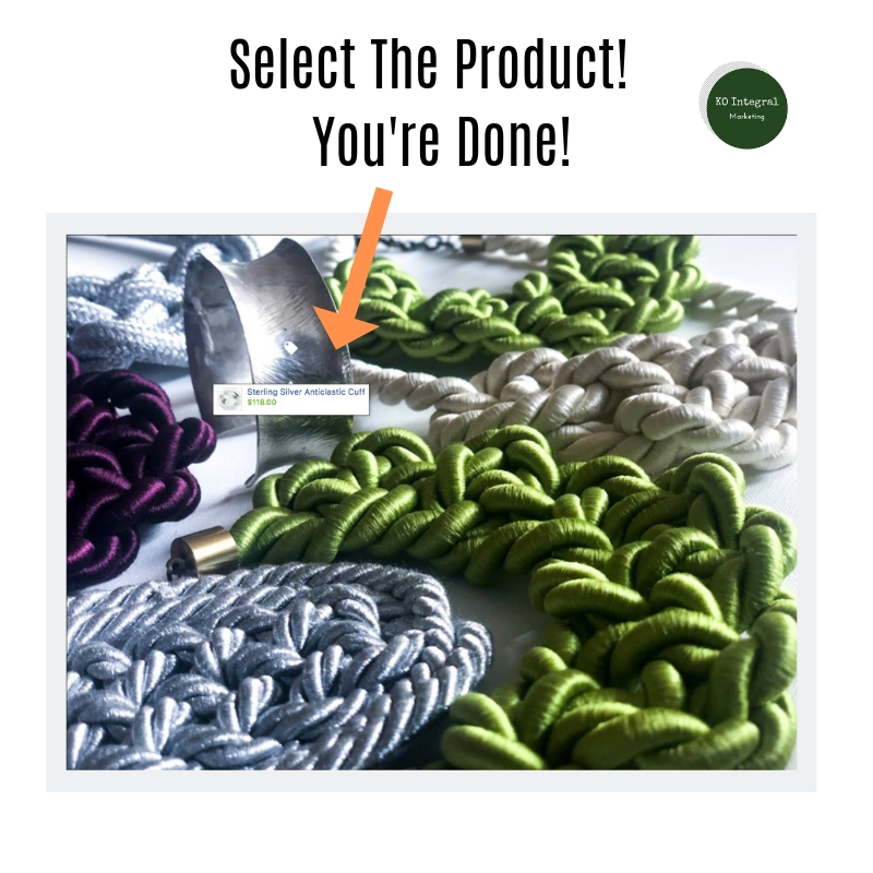 Finish Tagging Your Product By Clicking On The Selected Product.