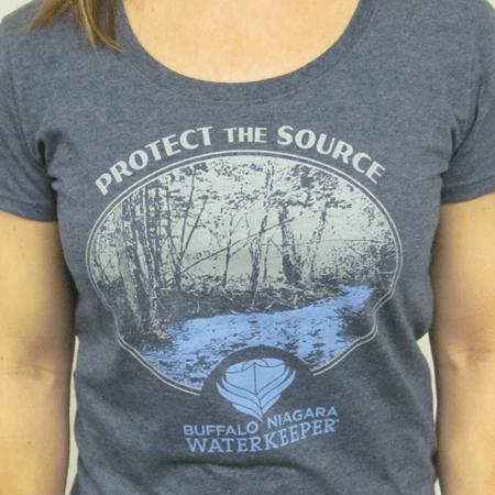 T-shirt designed and printed at Abaca Press for Buffalo Niagara Waterkeeper.