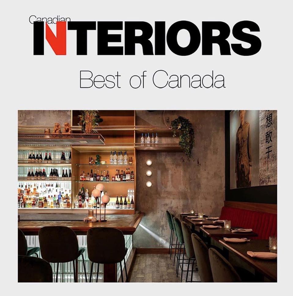 Canadian Interiors Design Award Mister Chens Calgary