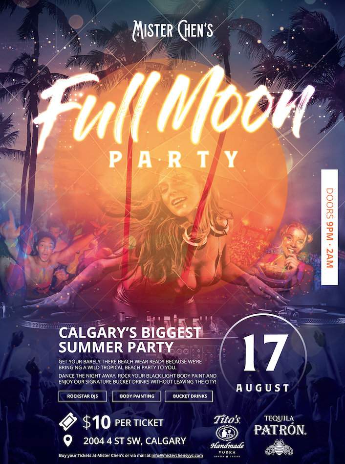 Mister Chen's Full Moon Party August