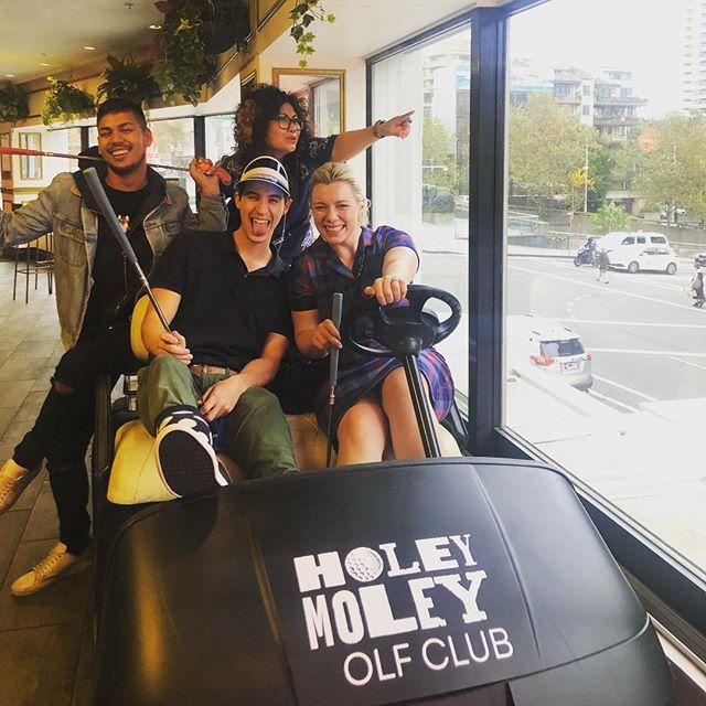 Current situation ⛳️ #puttputt #holeymoley #teamouting #teambonding #accountservice #creative #creativeagency #sydney #surryhills