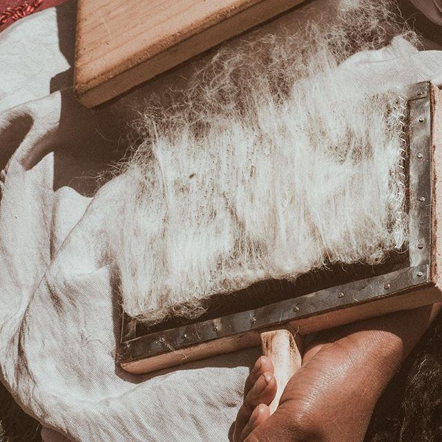 Proceso para hilar lana 🐑