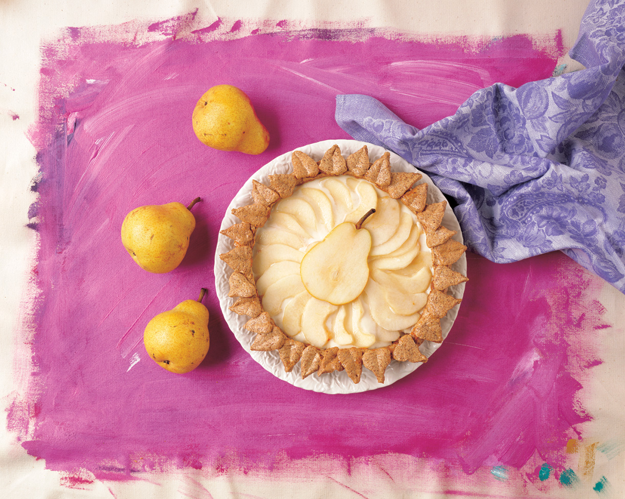 pie, pears on pink.jpg
