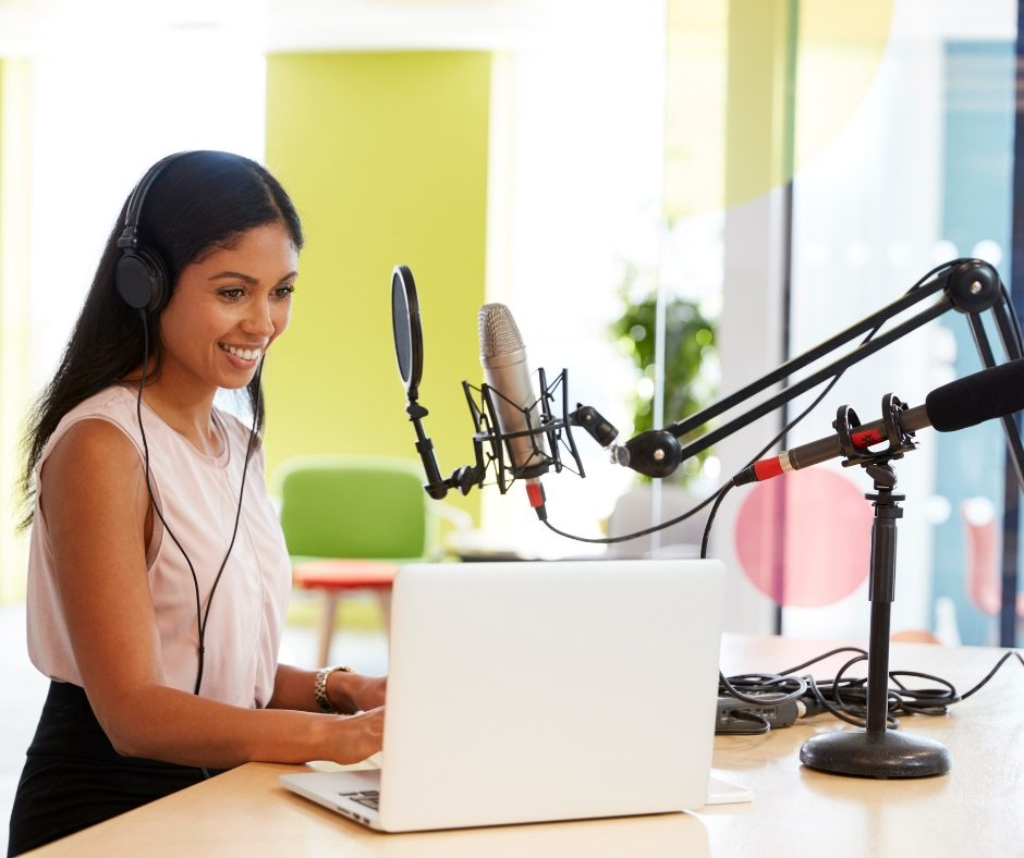 how to record a podcast interview with a remote guest woman recording free checklist