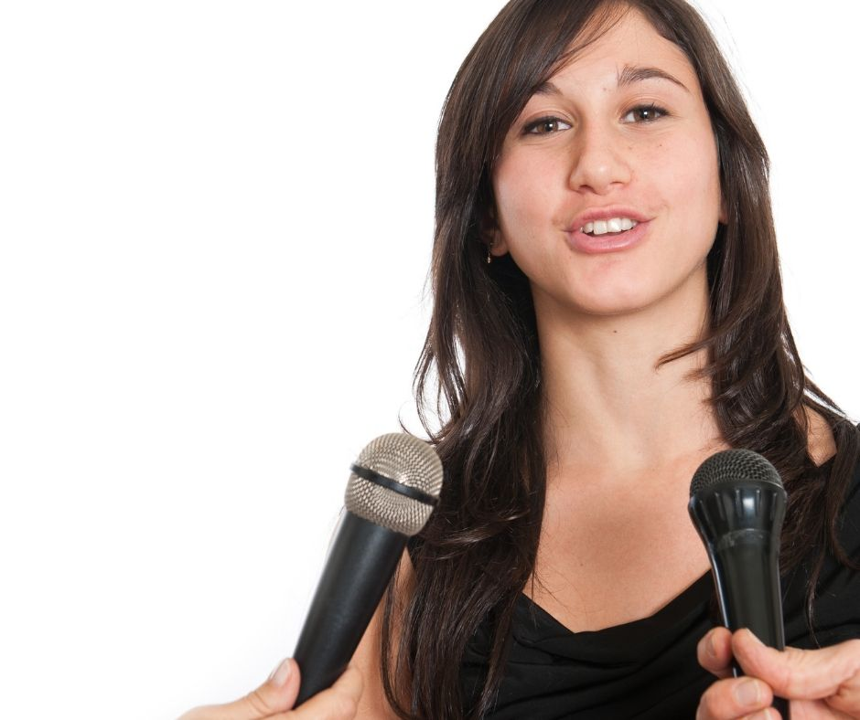 How to get interviewed on podcasts girl with mics