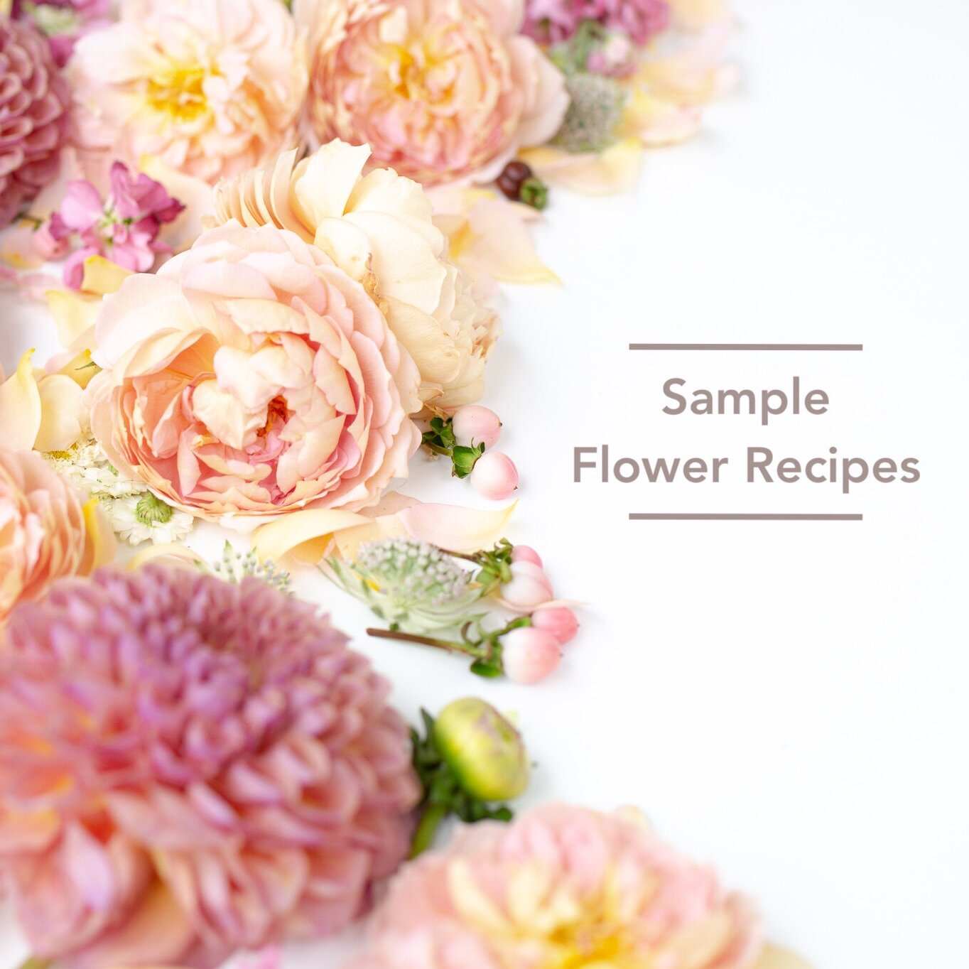 Customized flower recipes will be created for all Bloom Culture Clients. Here is an idea of what to expect. -