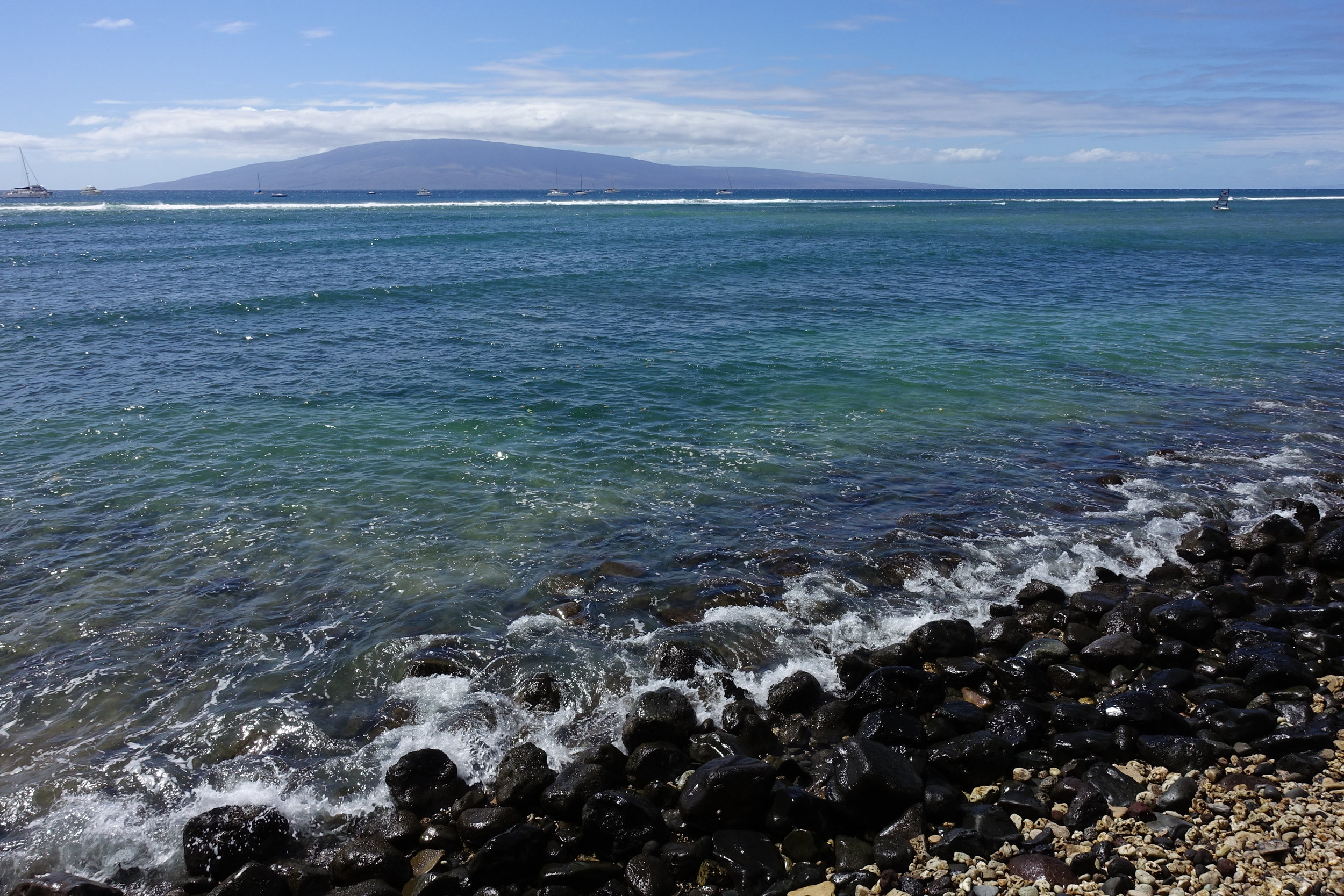 View of Lanaʻi from the west coast of Maui. Credit: Paula Moehlenkamp