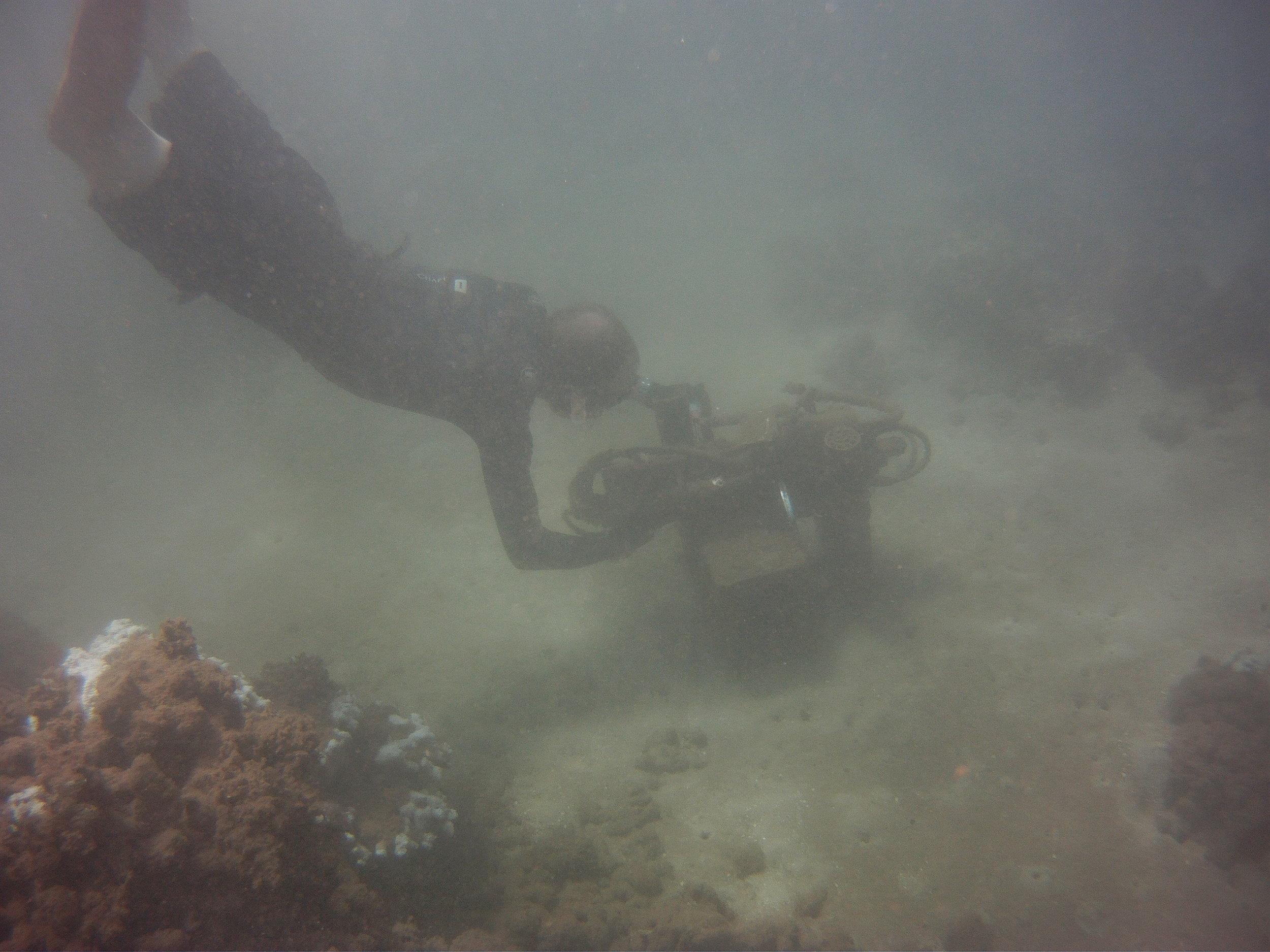 Instrument deployment on Lanai