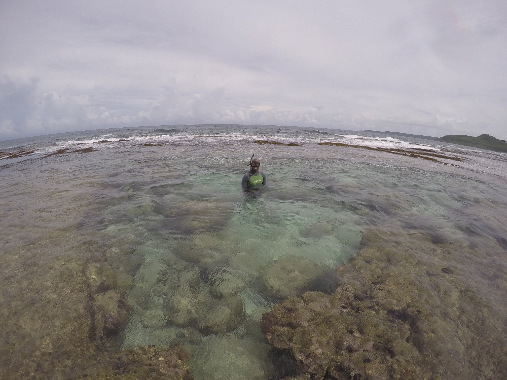 Deploying sensors Pago Bay Guam