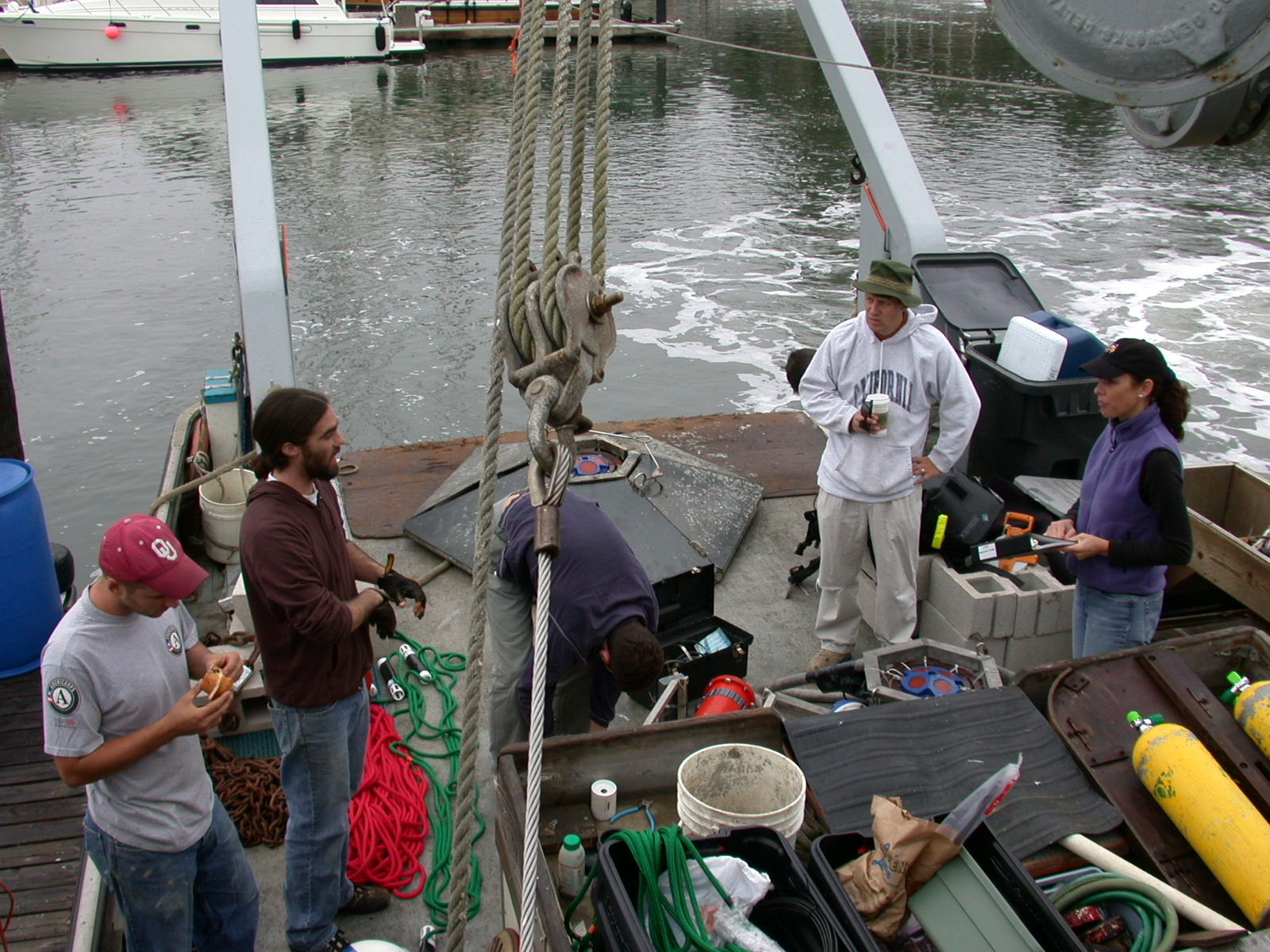 Instrument deployment in Monterey Bay