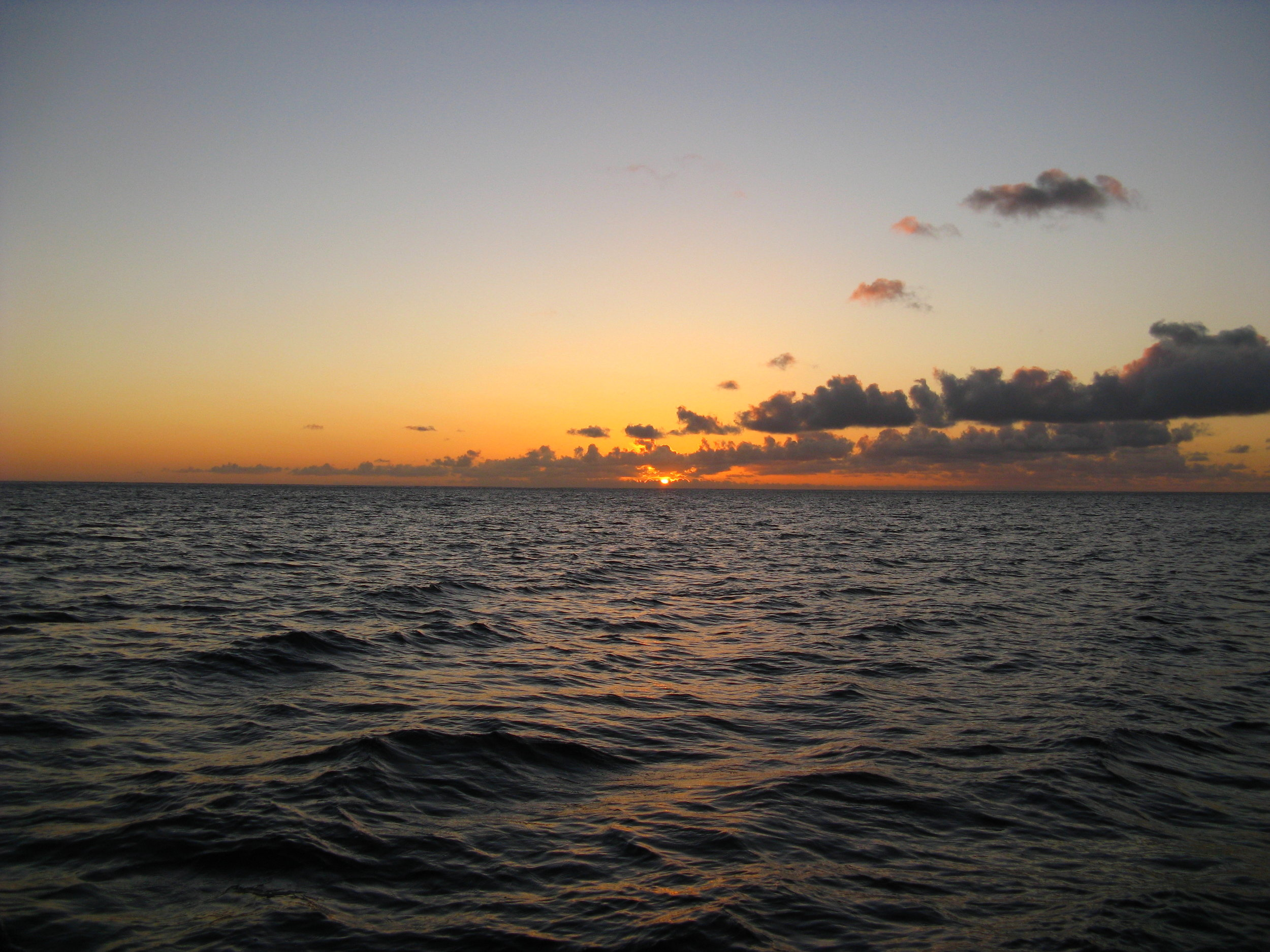 Sunset off the west coast of Oʻahu