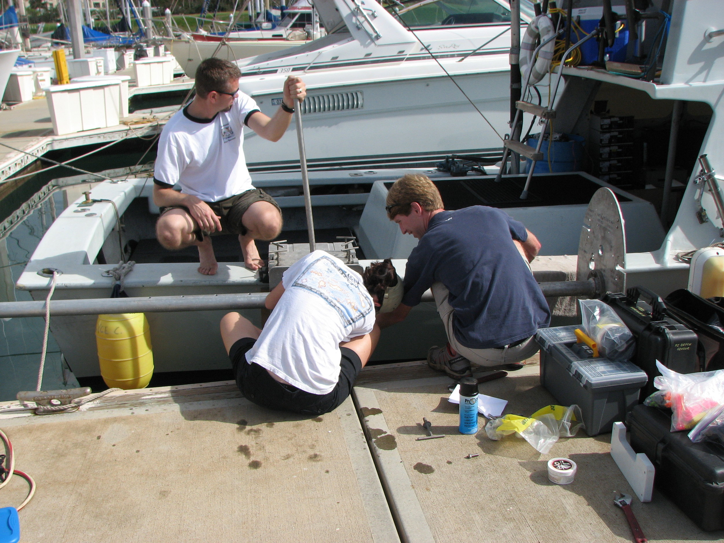 Preparing the Alyce C for coastal work