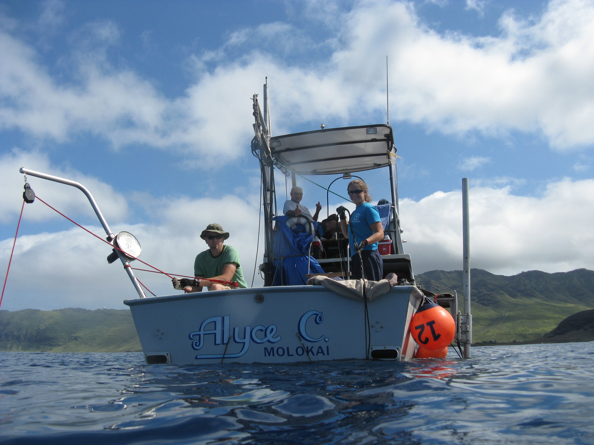 Coastal research on the Alyce C