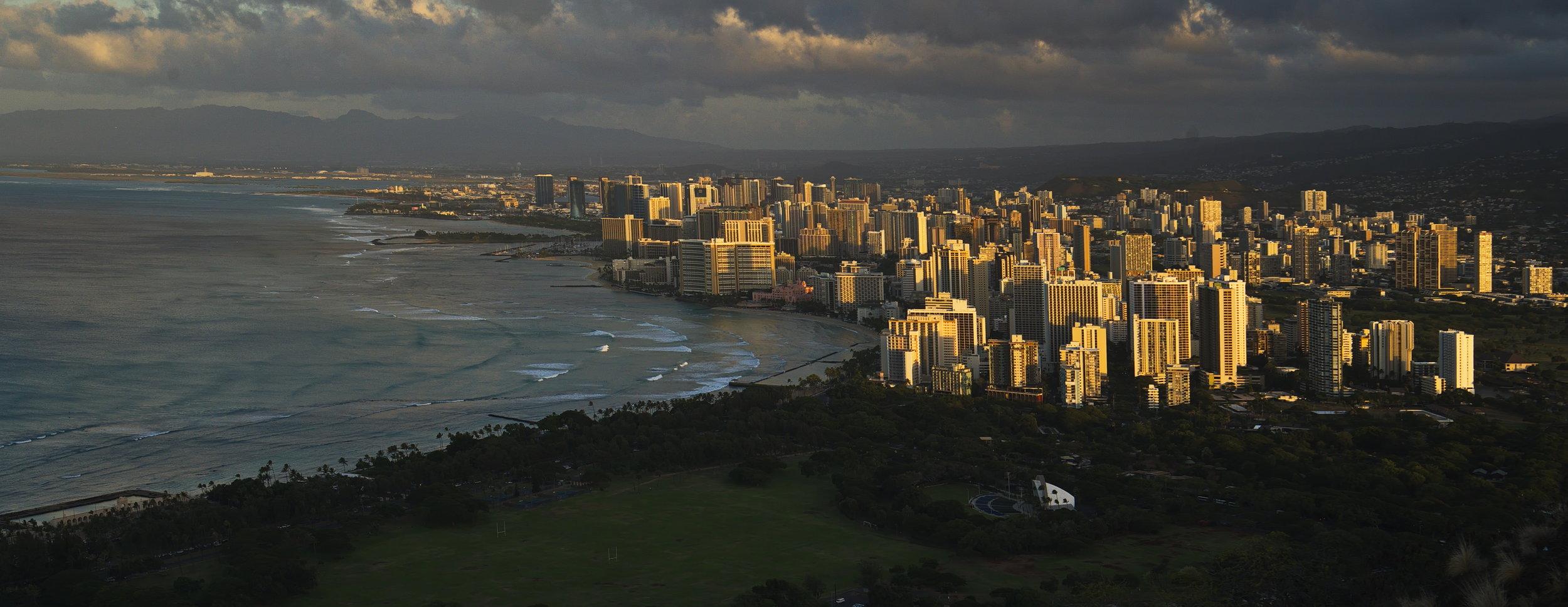 Diamond Head view of Honolulu. Credit: Paula Moehlenkamp