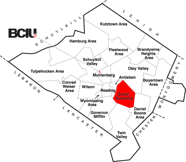 Berks County School District Map - Exeter.png