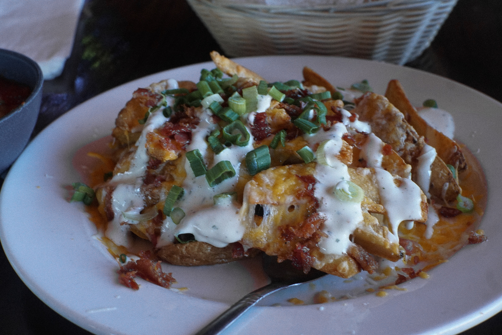 Cheese Fries = Jack + Cheddar + Bacon Bits + Ranch + Green Onions