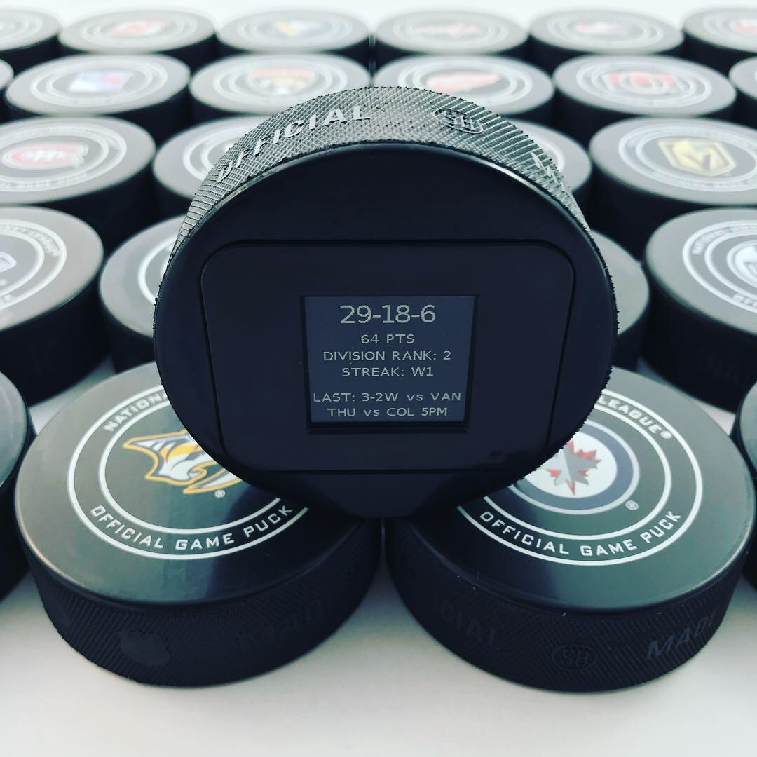 The Smart Puck with StatFeedr Technology from 12D Sports