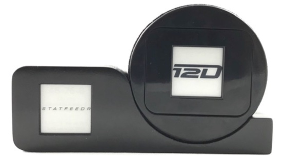 Holds any regulation size hockey puck. Perfect for game and autographed pucks. STATFEEDR display can be customized to any team or individual player.