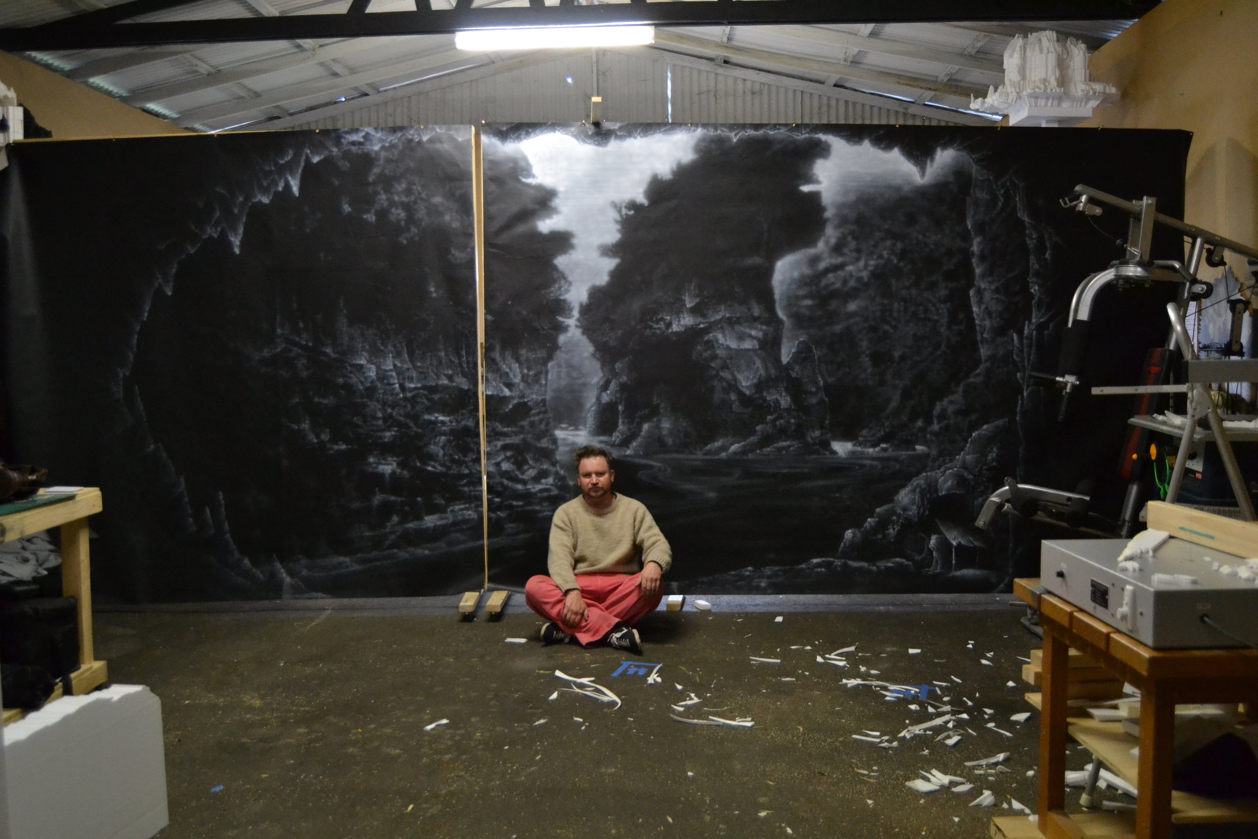 Painting back two walls 2011.JPG