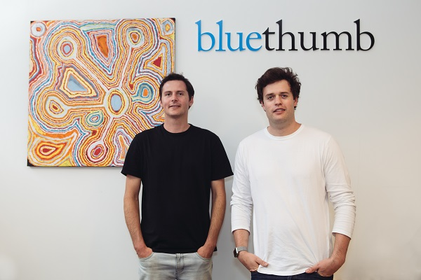 Bluethumb Co-founders Edward Hartley and George Hartley