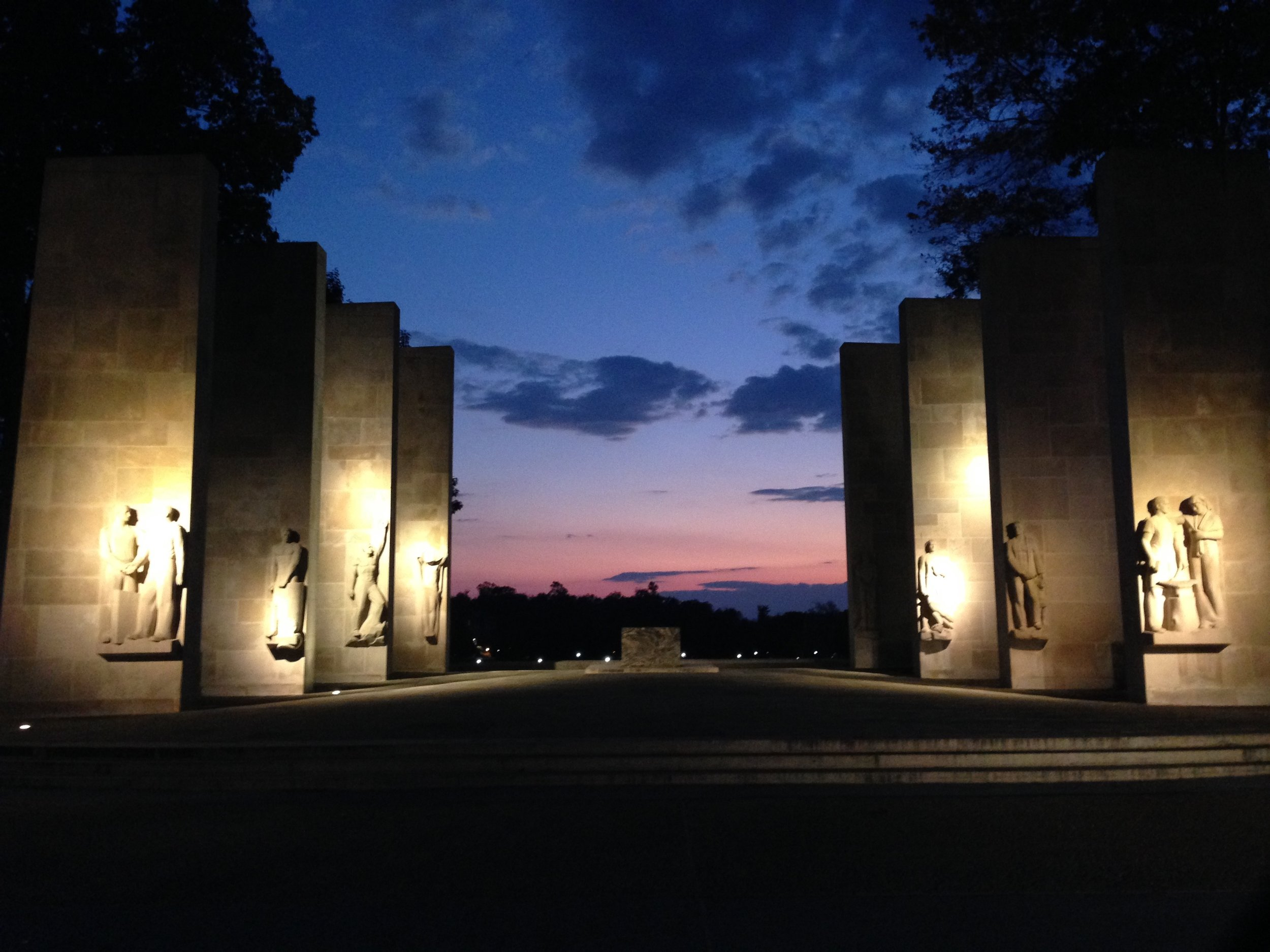 Virginia Tech's War Memorial Chapel offers a place for reflection on the university's Drillfield. (Photo by the author)