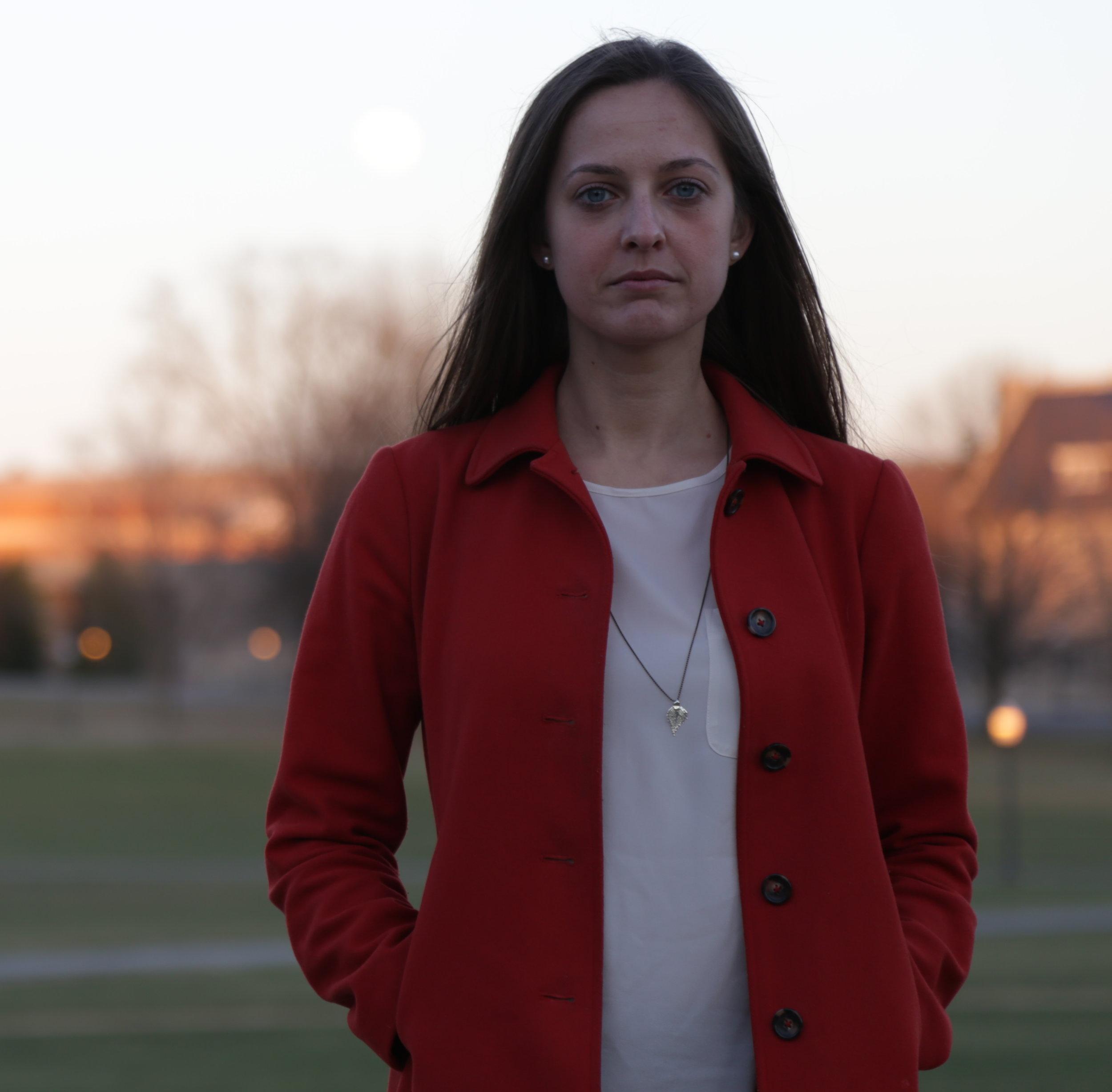 Kristina Anderson at Virginia Tech's April 16 Memorial. (Photo by Samuel Granillo, Columbine Survivor, Class of 2000)