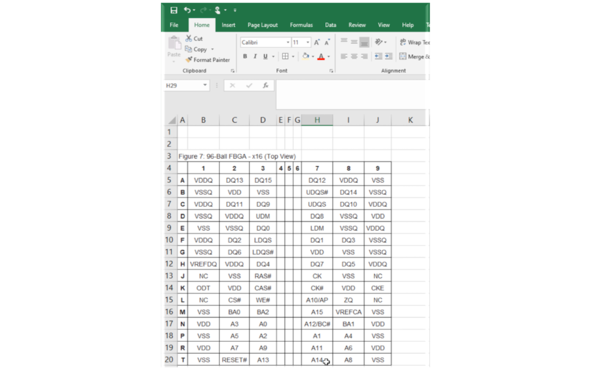 Able2Extract converts PDF data sheet to spreadsheet PinList ⤵