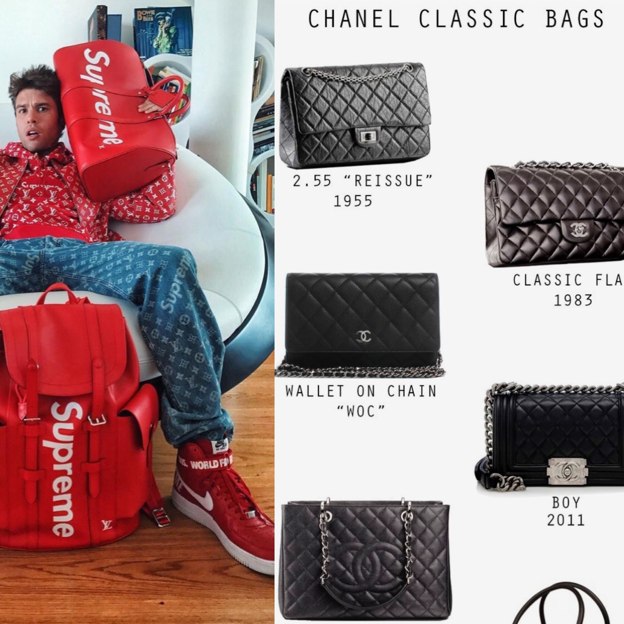 (via  Pinterest. ) Classic Chanel Bags every 'It-Girl' lusts after, and Supreme goodies every hypebeast wants. Luxury items are not so out-of-reach thanks to resale, consignment, and all things second-hand.