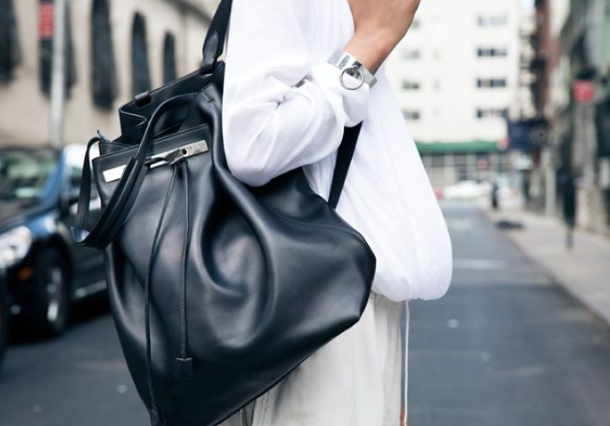 (via  Tumblr ) This illustrious The Row backpack retails for $3,000. Meredith only paid $300. Learn how to make money off your closet, buy what you really want, and be more sustainable.