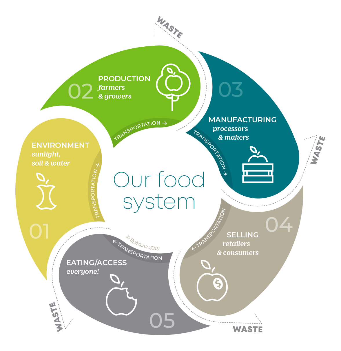 our food system - by spira. Where do you fit?