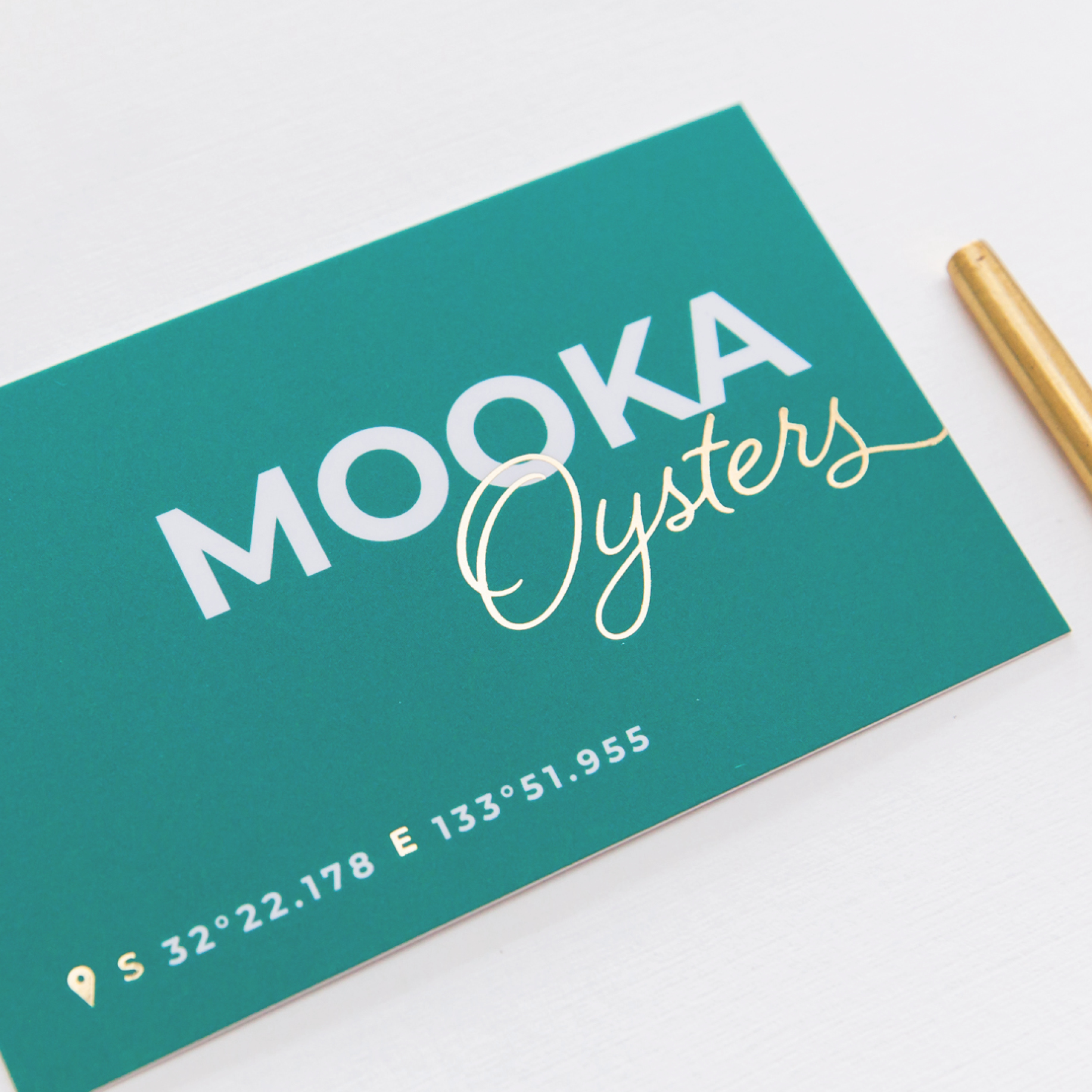 Mooka Oysters Business Card