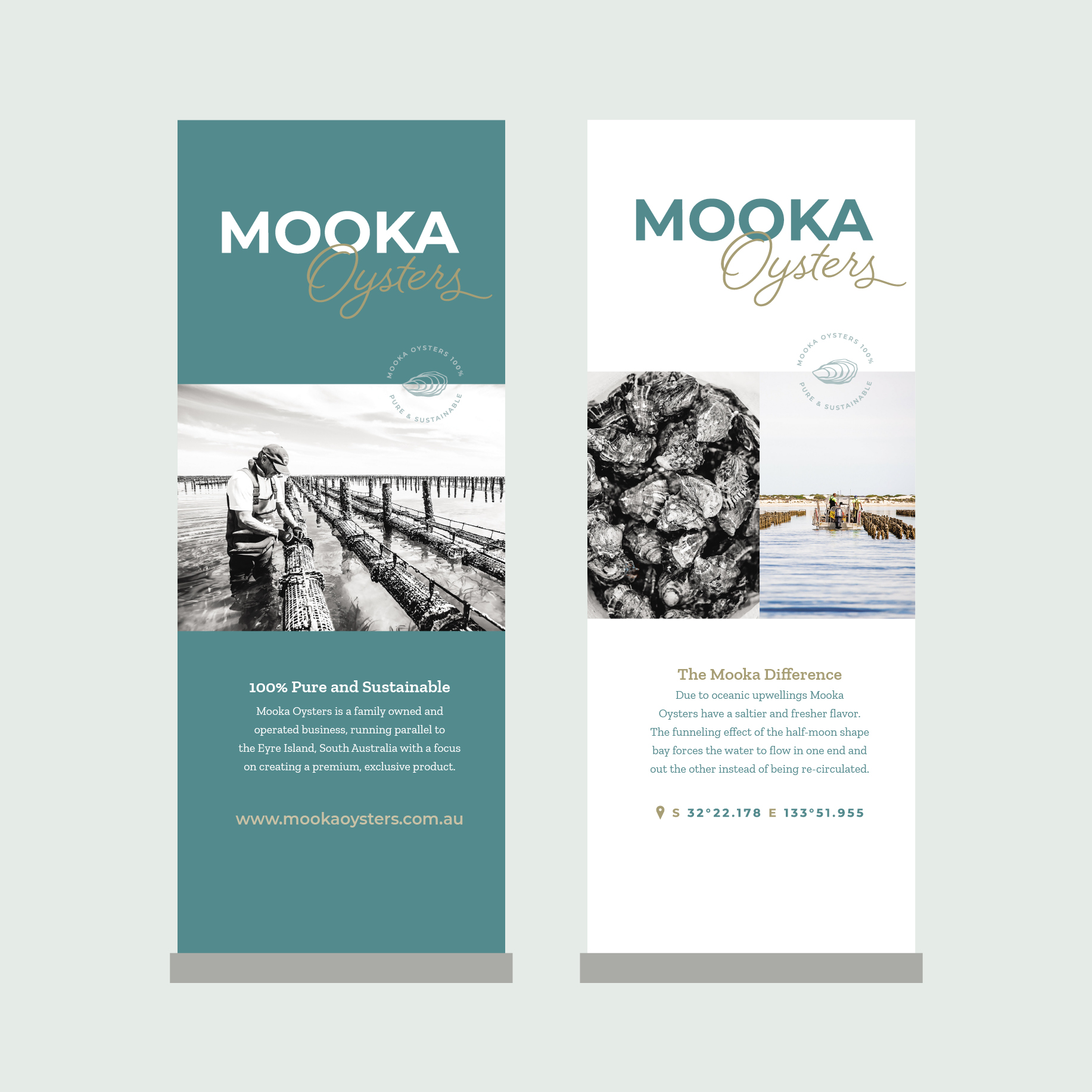 Mooka Oysters Pull-Up Banners
